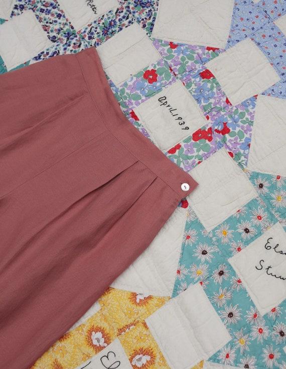 1980s Linen Pink Pants - image 7