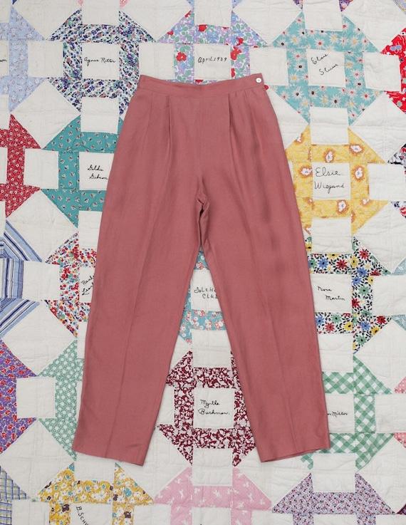 1980s Linen Pink Pants - image 5