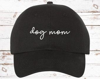 1efb518bda51d Dog Mom Script Dad Hat Baseball Cap Unstructured