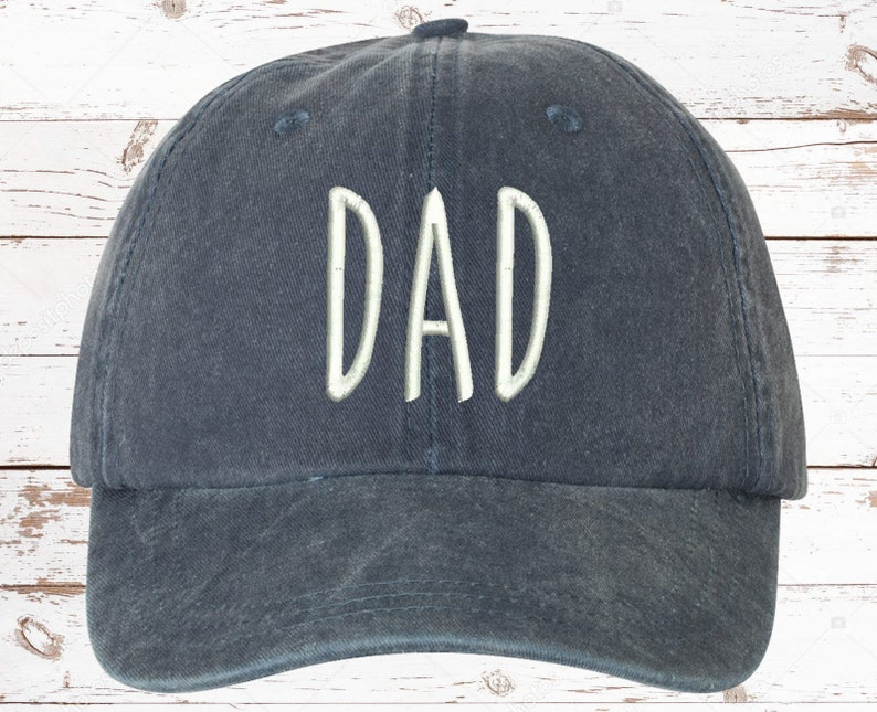 Mom & Dad EMBROIDERED Dad Hat Pigment Dyed Unstructured image 6; father's day gift ideas
