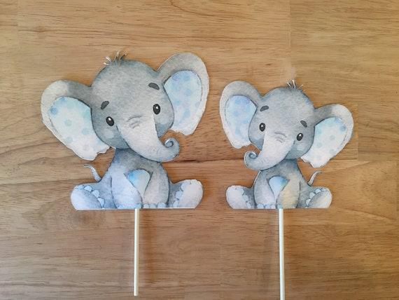 Elephant Cake Topper Baby Shower Decor Cake Nursery ...
