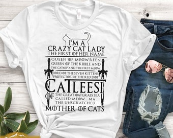 6dba1bf7f Crazy Cat Lady Shirt, Mother Of Dragons Shirt, Mother Of Cats Shirt,  Catleesi Tee, Khaleesi GOT Shirt, Mother's Day Gift Ideas, Catleesi Mom