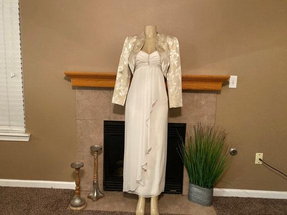Miss Elliette Off White Long Dress