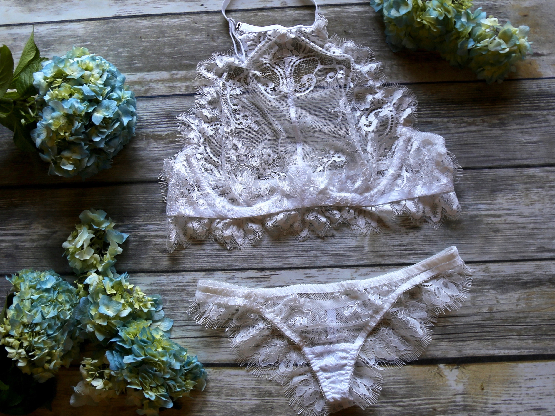 c5b250e0190 Je Taime white handmade lace lingerie