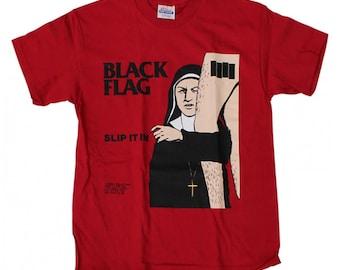 853c268cb Black Flag Slip It In Red T-Shirt