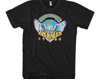 fe048d9cfb5 Van Halen Tour Of The World 1984 T-Shirt