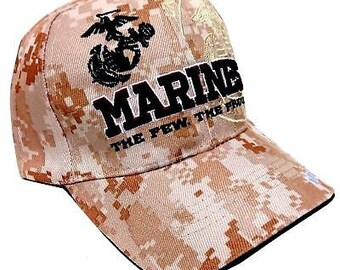 3bfdc343622 US Marines Hat Digital Camouflage The Few   Proud Embroidered USMC Military  Cap