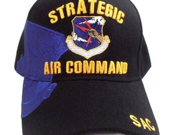 f5228ec1a38 US Air Force Hat Strategic Air Command SAC Blue Adjustable Cap