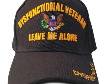 a7b218d2606 US Army Veteran Hat Black w  Flag Eagle Logo Adjustable Cap