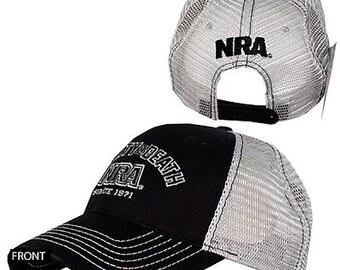 ba7e13f0b1f NRA Hat Liberty Or Death National Rifle Association Logo Adjustable Snapback  Cap