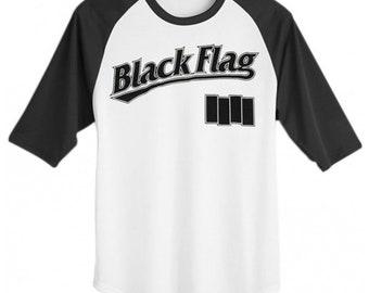 c20719bc5 Black Flag Logo Baseball Jersey Longsleeve T-Shirt