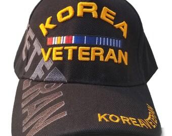 522ca6576cc Korea Veteran Hat Black Adjustable Cap