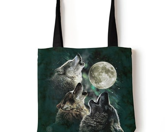 Howling Wolf Moon Heavyweight Canvas Duffel Bag