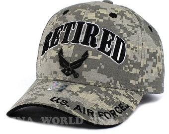 5567e6c8cfb US Air Force Retired Hat ACU Digital Camo w  Wings Logo