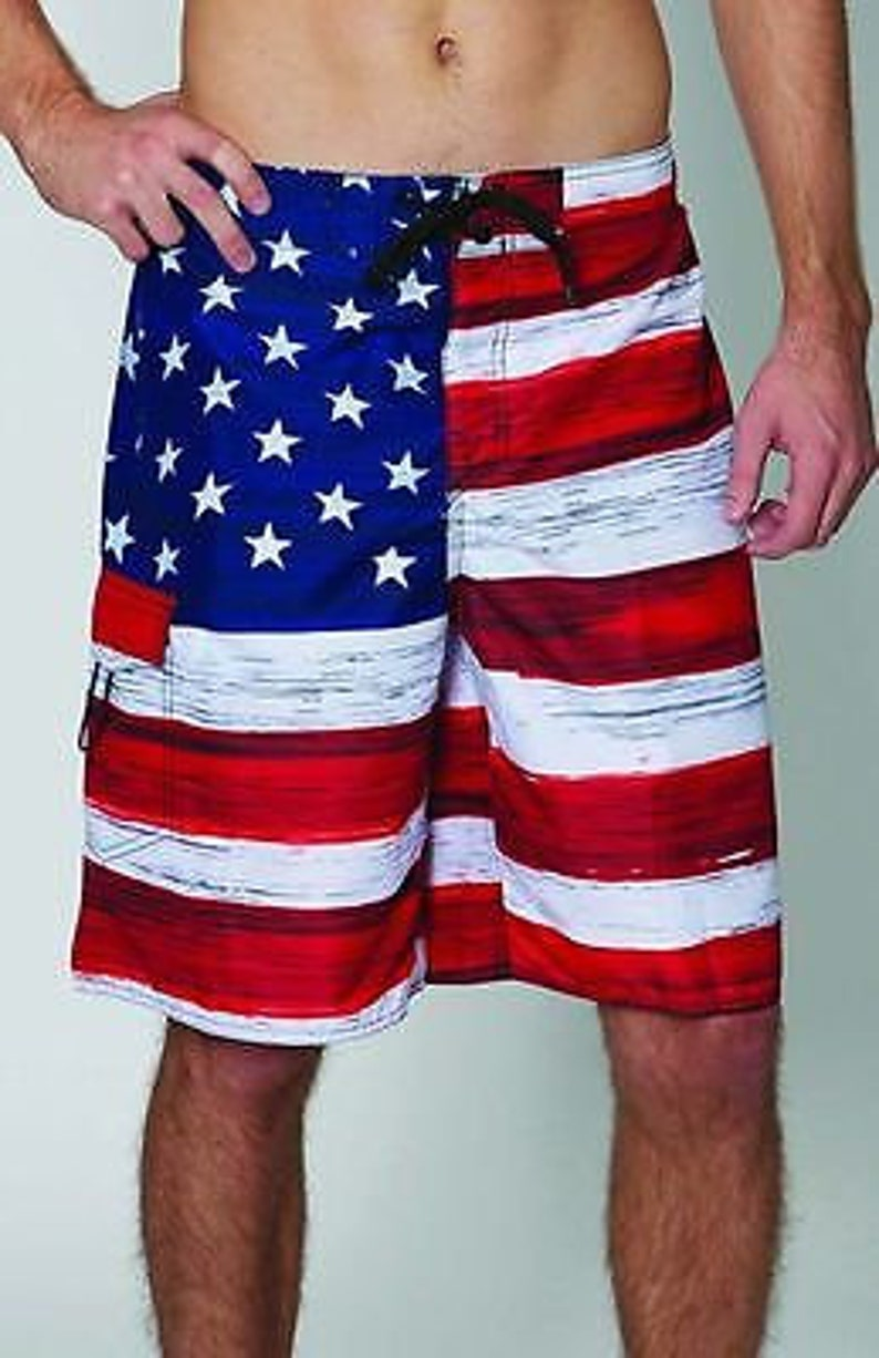 4ecebdb73761f USA American Flag Old Glory Mens Board Shorts Swim Trunks | Etsy