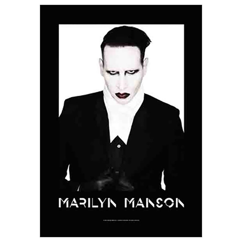 FABRIC POSTER FLAG 2 SIDED 30 in x 43 in MARILYN MANSON