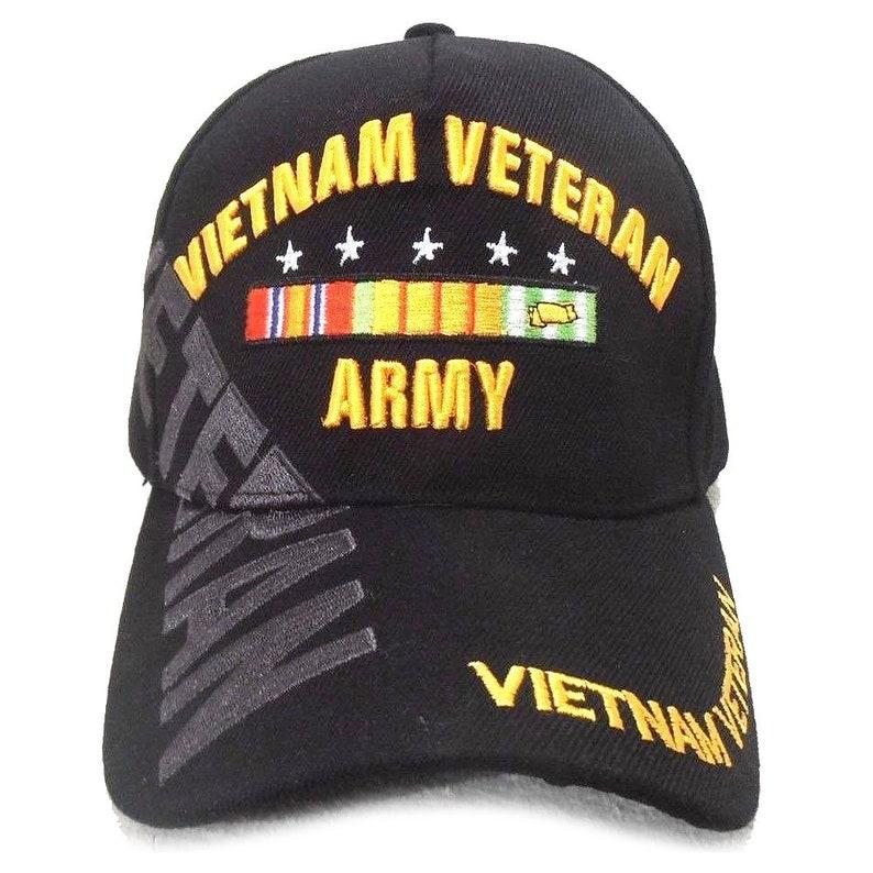 47d3c7c9d6b96 US Army Vietnam Veteran Hat Black Adjustable Cap