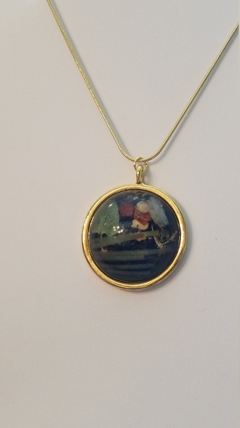 that/'s a big-a meat-a ball-a! cheese Oregano Pasta Lovers Circular Resin Pendant /& 20\u201d chain pasta gold plated necklace LAND