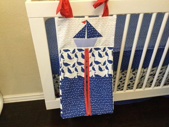 Ahoy nautical diaper stacker etsy