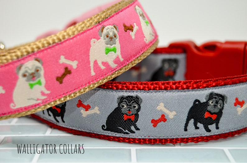 A Couple of Pugs collars