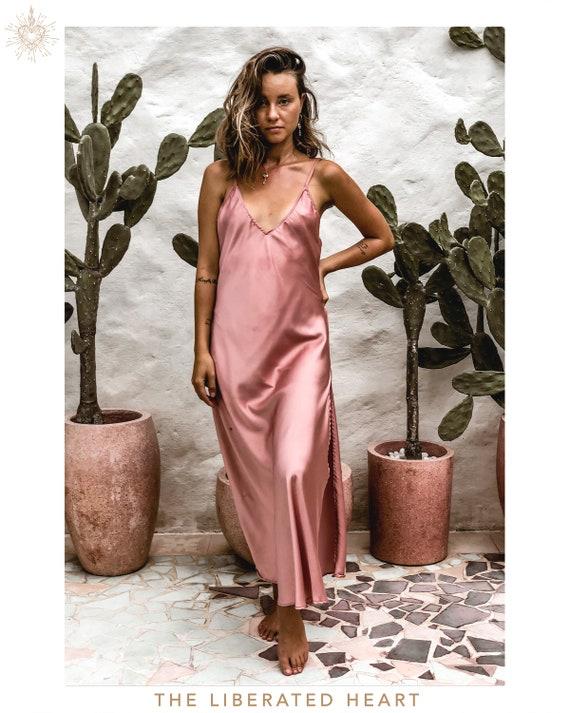 Osun Silk Dress .:. Rose Quartz