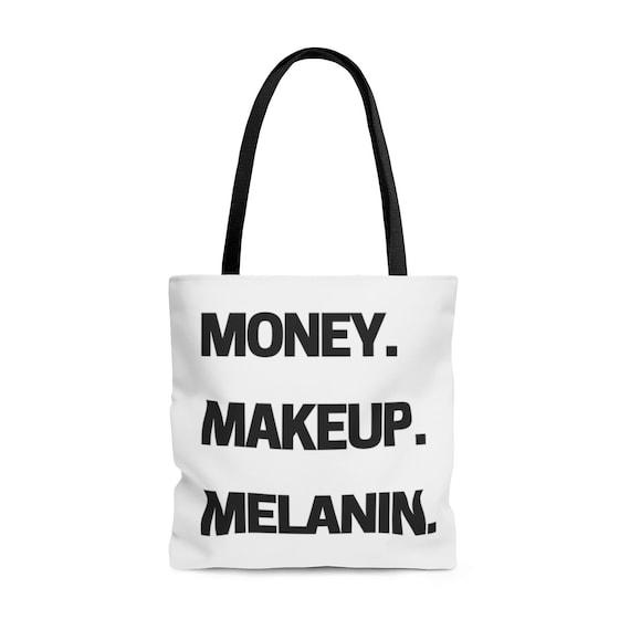 Money Makeup Melanin Accessory Pouch