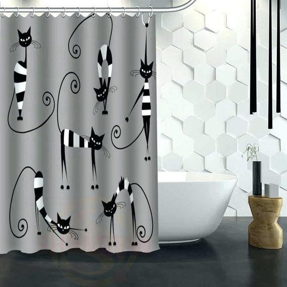 Siamese Cats Exotic Interesting cool bathroom privacy unique fun design shower curtain