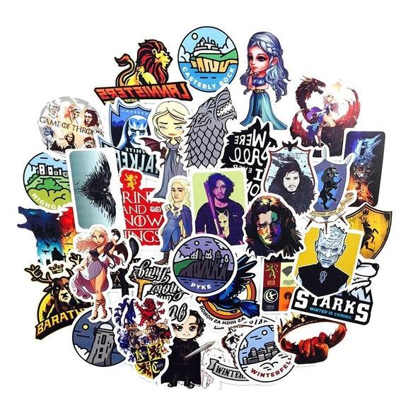 Game Of Thrones Stickers Skateboard Vinyl Decals Laptop Luggage Sticker 25 Pcs