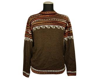 Alpakapullover Handarbeit Alpakapulli Strickpulli Lama Herren Norweger Sweater