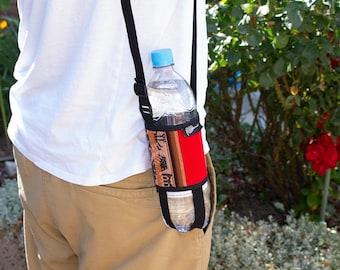 Beverage bag shoulder bag to carry bottle with shoulder strap Hippie Peru New