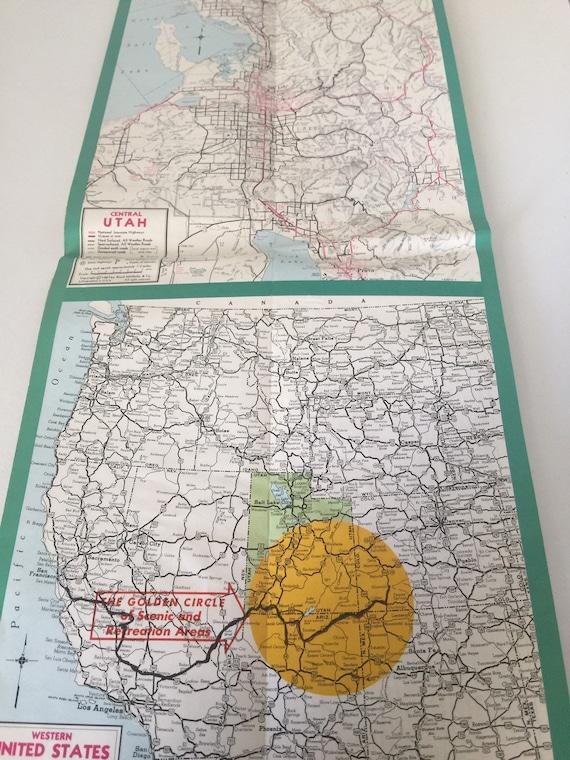 Vintage Map Utah Highway Map 1967 Utah State Department of Highways