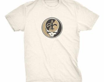dffd19555 Grateful Dead New Orleans Saints shakedown lot style shirt