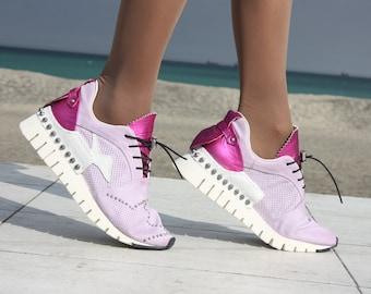 new concept b8830 89e45 Donne scarpe da ginnastica scarpe da ginnastica cuoio genuino lavoro  combattimento militare slouch Stivali alla caviglia stivali pizzo  decorazione ...