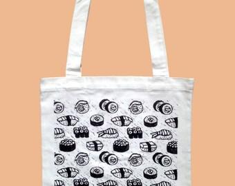 4fdaf4fea63 Sushi Linocut Tote Bag