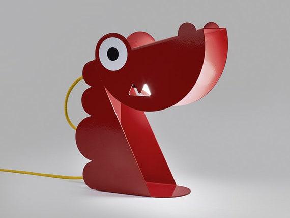 Chevet Animal Rouge De Noel A Poser Lampe Dragon zVMUSLqpG