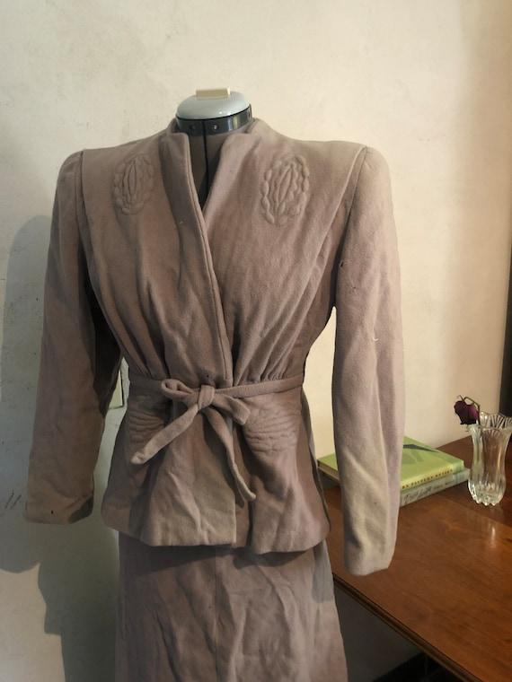 1940s wool suit, damaged