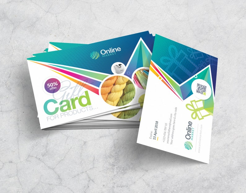 Corporate Business Gift Card Template