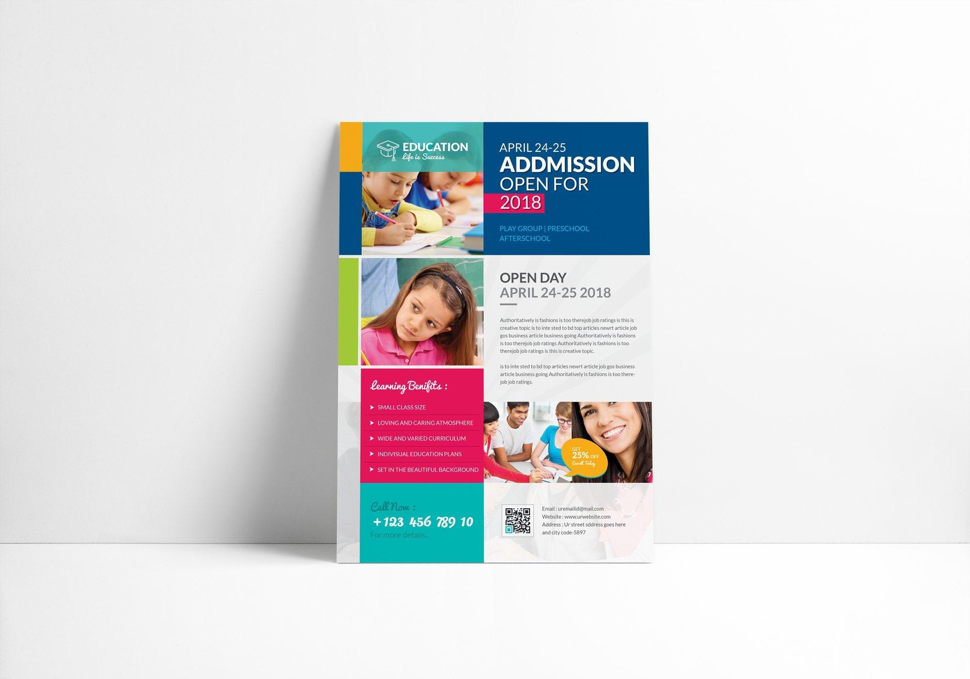 Admission Open School Flyer Flyer Templates Creative - Newletterjdi co