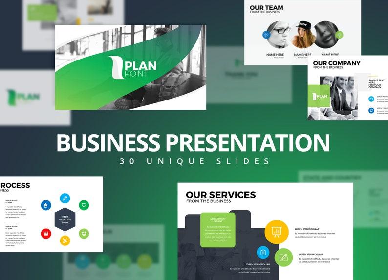 Modern Business Plan Powerpoint Template Editable Power Point Template Business Plan Presentation Template Minimal Power Point Template