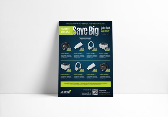 Product Sale Flyer Promotional Flyer Template Product Sale Etsy