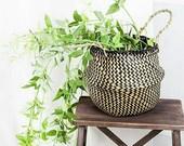 2019 New Arrvial Seagrass Wicker Basket Flower Pot Folding Basket Dirty Storage Basket Rattan Decoration For Home