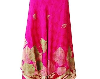 Floral Women/'s Skirt Gypsy Long Skirt Gift for her Beach Wear Bikini Cover Up Hippie Handmade Long Skirt Tube Dress Halter Vintage Sari