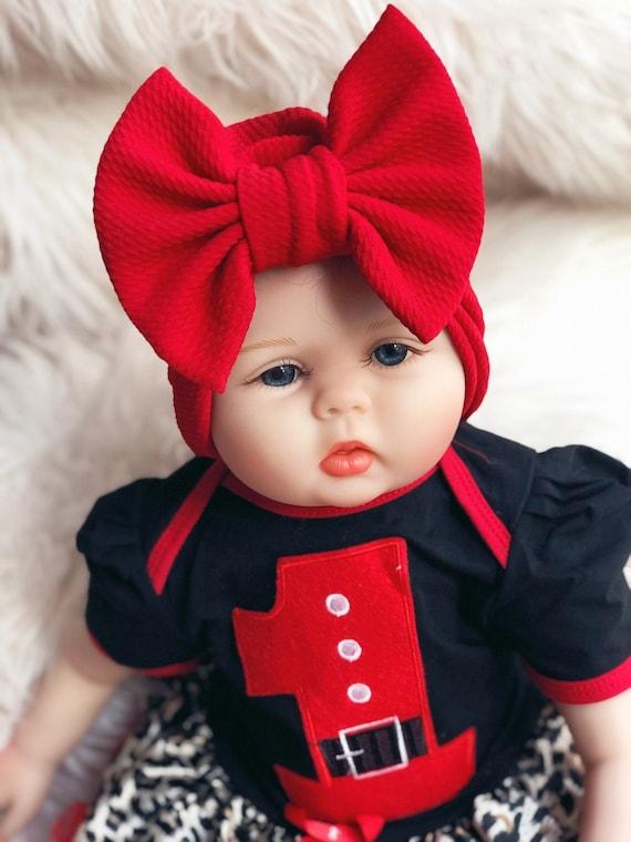 Red Bow Knot Turban Baby Turban