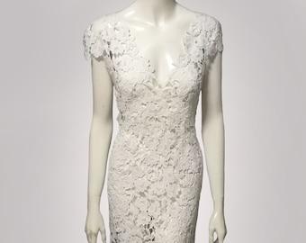 1d398eebbdeee weiße Spitze Kleid weiß Prada Spitze für Hochzeit und Brautjungfer