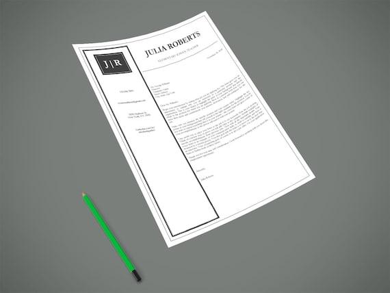 letterhead template printable letterhead design microsoft etsy