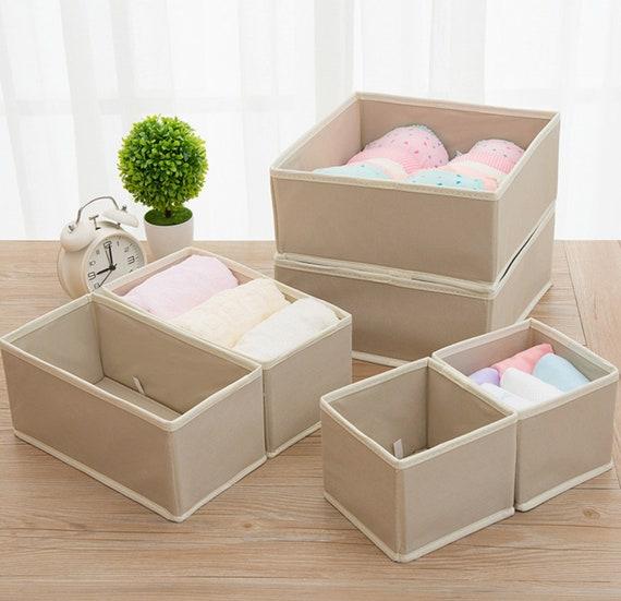 Creatov® Collapsible Storage Boxes Bra Underwear Closet Organizer Drawer Divider