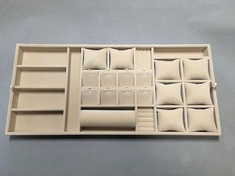 Jewelry Box Customize Jewelry Organizer Trays Felt Organizer Trays Drawer Inserts Earrings Holder Jewelry Storage