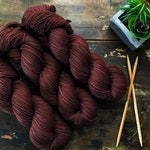 Is That Poop Or Chocolate? | Hand dyed sock yarn | Chocolate brown  | Dye Lot 001 | FREE US SHIPPING