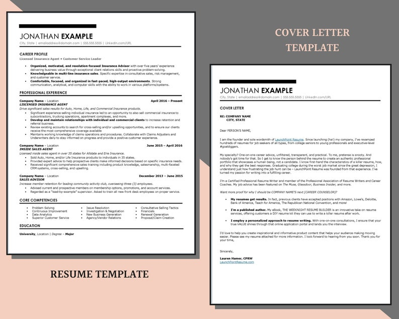 ats professional resume template for word modern resume  etsy