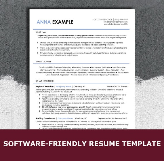Resume Scanning Software | Ats Resume Template For Word Simple Modern Professional Resume Template For Word 2